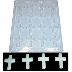 CROSS CANDLE EMBED MOLD, 16 WELL