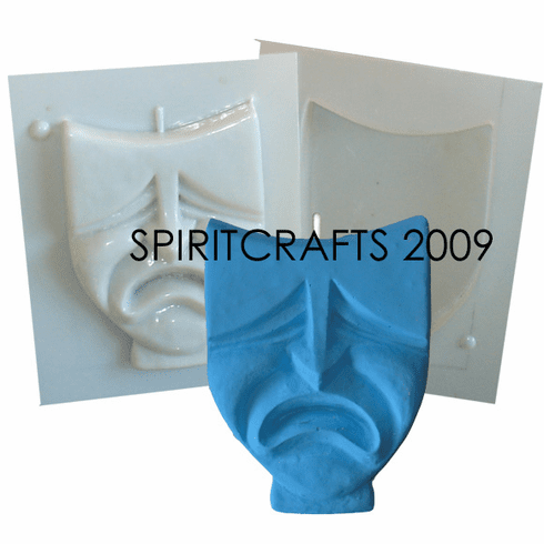 """CRY LATER MASK CANDLE MOLD (5 1/8"""" HT x 3.75"""")"""