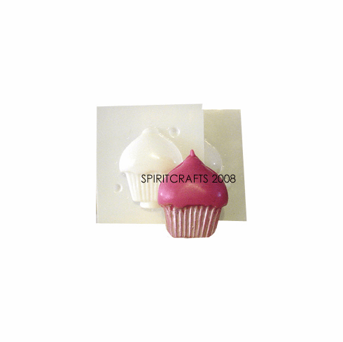 "CUPCAKE CANDLE MAKING MOLD (2.5"" HT, 2 oz)"