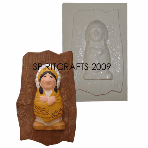"""CUTE INDIAN PLASTER CRAFT MOLD (5.75"""" x 8.25"""")"""