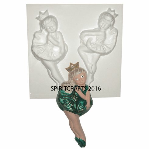 """DANCERS PLASTER MOLD, 2 ON 1 (6.75"""" HT and 7.25"""" HT)"""