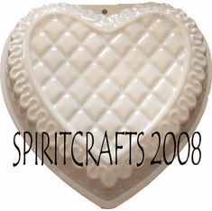 "DECORATED HEART CAKE PAN MOLD (10"" DIA)"