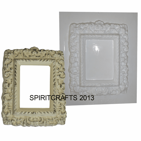 "DECORATIVE RECTANGLE FRAME PLASTER MOLD (7.5"" x 9.5"")"