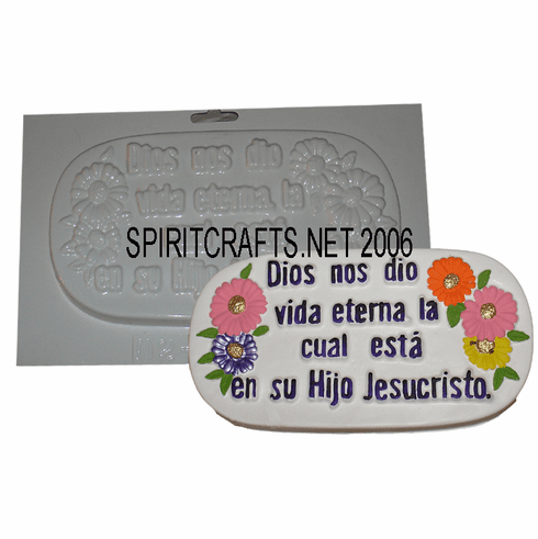 """DIOS NO DIO SPANISH PLASTER CRAFTING MOLD (9"""")"""