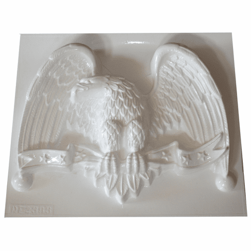 """EAGLE WITH STARS BANNER PLASTER MOLD (XL) (17"""" x 12"""")"""