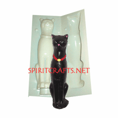 """EGYPTIAN / WICCAN CAT CANDLE MOLD (8.25"""", 6 oz)"""