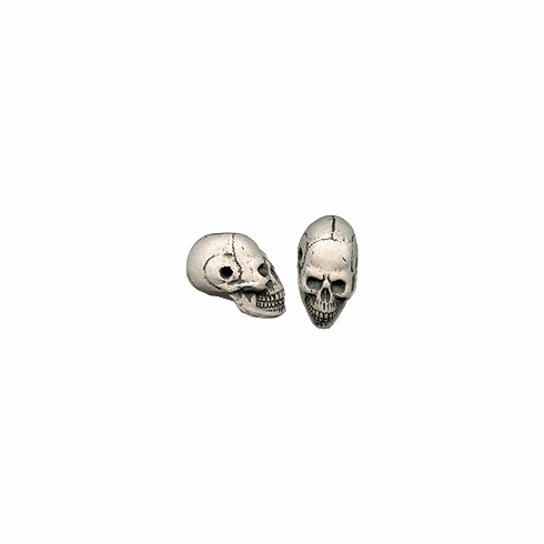 ELONGATED NATURAL LARGE SKULL BEADS (25mm x 15mm)