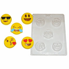EMOJI COOKIE CANDY CHOCOLATE SOAP MOLD (5 WELL)