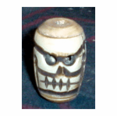 EXTRA LARGE BONE SKULL BEADS, 38mm APX