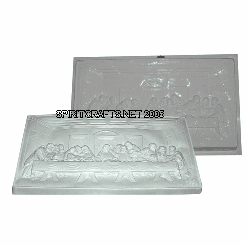 """EXTRA LARGE LAST SUPPER PLASTER MOLD (24"""" x 12.5"""")"""