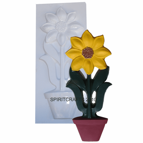 """EXTRA LARGE SUNFLOWER PLASTER MOLD (28"""" HT x 11"""")"""