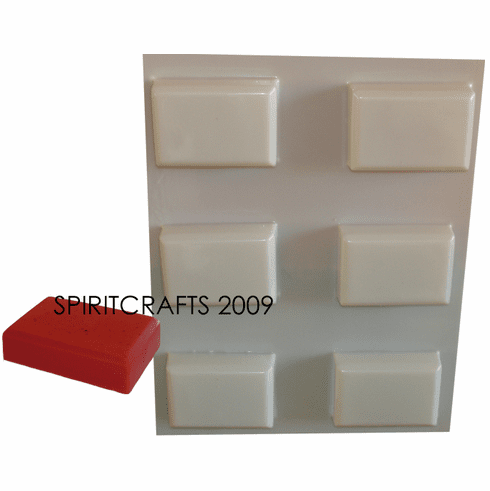 FACETED BAR SOAP MAKING MOLD, 6 WELL