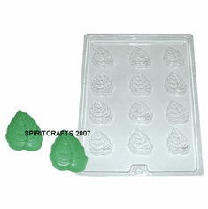 FALL LEAVES EMBED / CANDY MOLD (12 ON 1)
