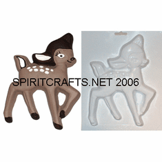 "FAWN / BABY DEER PLASTER CRAFT MOLD (7"" x 9"")"