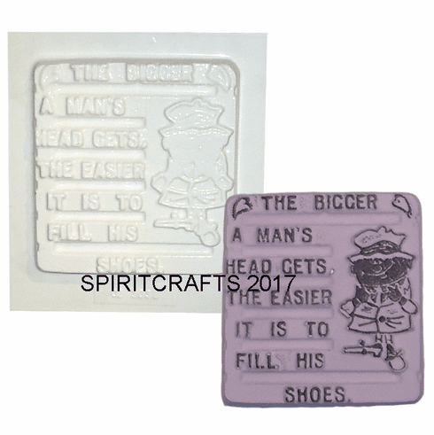 """FILL A MAN'S SHOES PLASTER MOLD (4.25"""" x 4.75"""")"""