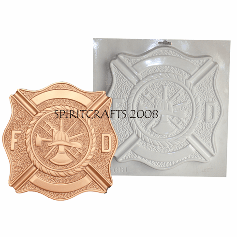 "FIRE DEPARTMENT BADGE PLASTER MOLD (10.75"" x 11"")"