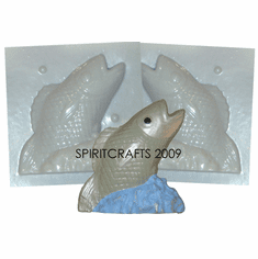 """FISH CANDLE MAKING<br> MOLD (6"""" HT, 1 lb 3 oz)"""