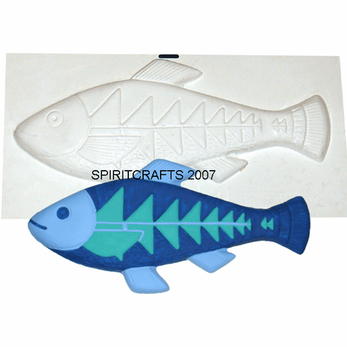 """FISH WITH ARROWS PLASTER CRAFT MOLD (19"""" x 9"""")"""