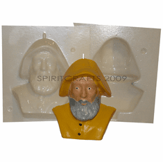 """FISHERMAN CANDLE<br> MAKING MOLD<br> (5.5"""" HT, 1 lb)"""