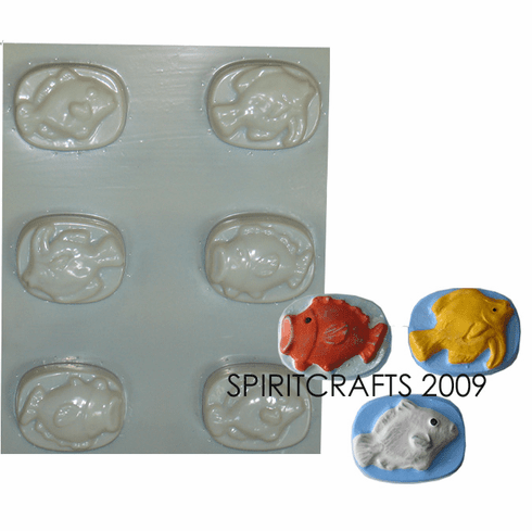 FISHERMANS SOAP MOLD, 6 WELL (3 STYLE)