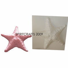 """FLAT STARFISH <br>CANDLE MAKING MOLD<br> (8"""" WIDE, 7 oz)"""