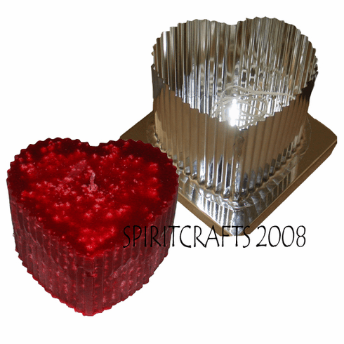 "FLUTED HEART CANDLE MAKING MOLD (4.5"" x 3.5"")"