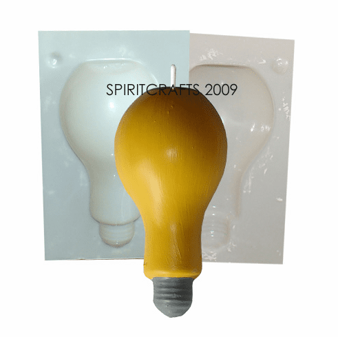 """FOOTED LIGHTBULB</br> CANDLE MOLD</br> (4.5"""" HT, 8 oz)"""