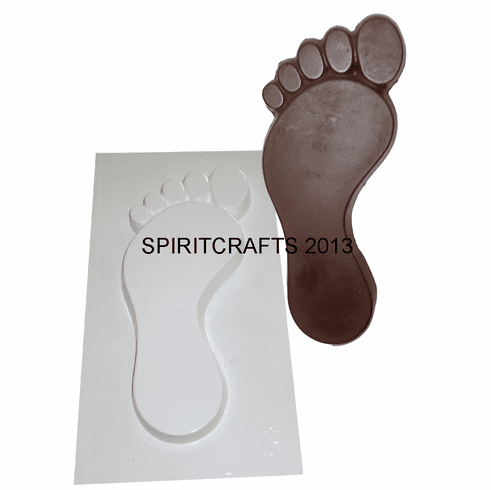 "FOOTPRINTS (LEFT) PLASTER MOLD (3.75"" x 8.25"")"