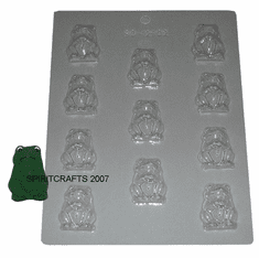 FROG CANDLE EMBED / CANDY MOLD, 11 WELL