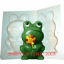 "FROG WITH FLOWER <BR>CANDLE MOLD<BR> (6.25"" HT, 1 lb 4 oz)"