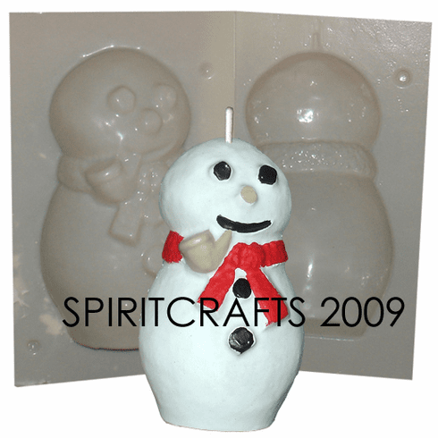 """FROSTY SNOWMAN <br>CANDLE MAKING MOLD<br> (6.5"""" HT, 1 lb 11 oz)"""