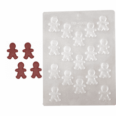 GINGERBREAD MAN EMBED / CANDY MOLD (17 WELL)