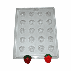 HALF STRAWBERRY EMBED / CANDY MOLD, 20 WELL