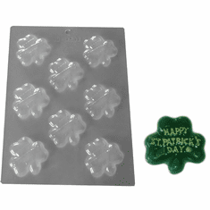 HAPPY ST PATRICKS DAY SHAMROCK CANDY MOLD (8 WELL)