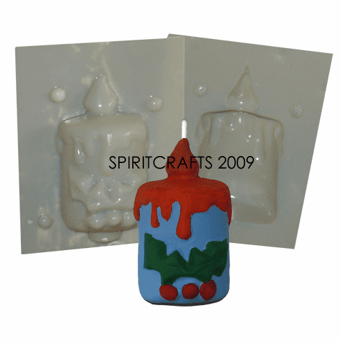 """HOLLY CANDLE CANDLE MAKING MOLD (3 7/8"""" HT, 6 oz)"""