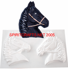 "HORSE HEAD PLASTER CRAFT MOLD, 2 ON 1(6"" APPROX)"
