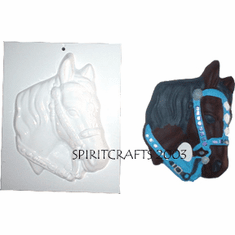 "HORSE HEAD PLASTER CRAFTING MOLD (6.5"" x 9"")"