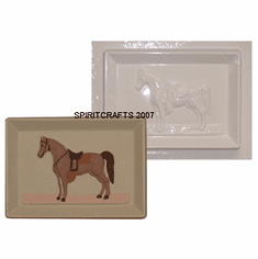 "HORSE PLAQUE PLASTER CASTING MOLD (6.75"" x 5"")"