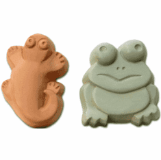 KIDS FROG AND SALAMANDER SOAP MOLD (4 WELL)