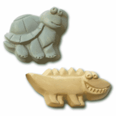 KIDS TURTLE AND ALLIGATOR SOAP MOLD (4 WELL)