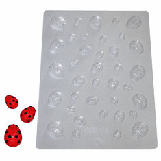 LADYBUG CANDLE EMBED / CANDY MOLD, 37 WELL
