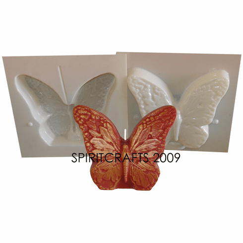 """LARGE BUTTERFLY <BR>CANDLE MAKING MOLD<BR> (5.25"""" HT, 1 lb 8 oz)"""