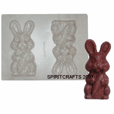 """LARGE EASTER BUNNY CHOCOLATE / CANDY MOLD (6"""" HT)"""