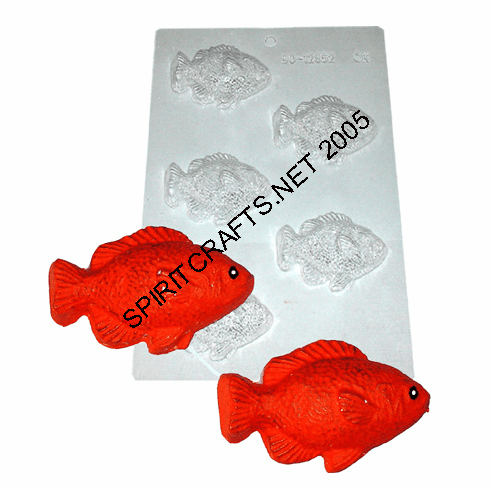LARGE FISH CANDLE EMBED / CANDY MOLD (5 WELL)