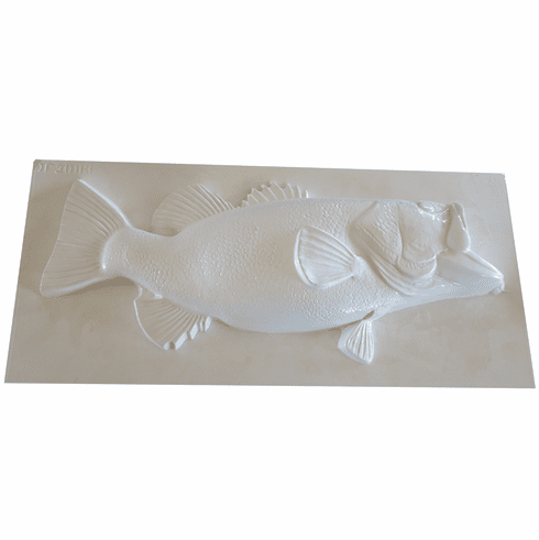 """LARGE MOUTH BASS PLASTER MOLD (XL) (23.5"""" x  9.25"""")"""