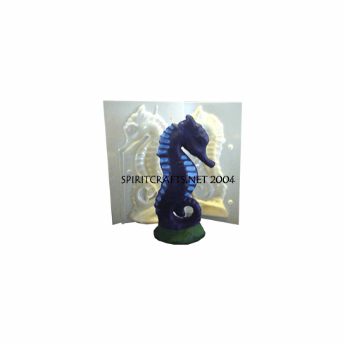 """LARGE SEAHORSE <br> CANDLE MOLD <br> (10"""" HT, 1 lb 2 oz)"""