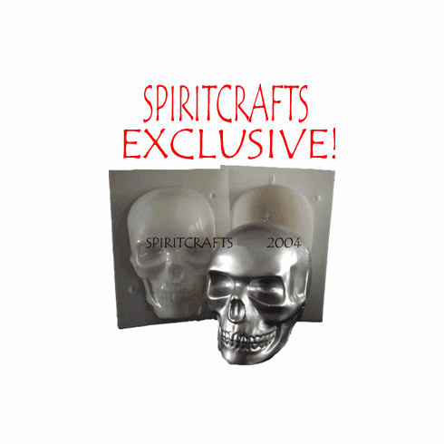 """LARGE SKULL CANDLE MOLD (5.5"""", 3 lb)"""