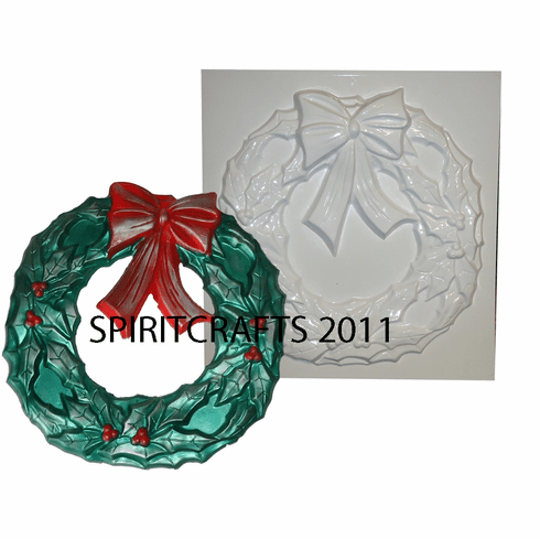 "LARGE WREATH PLASTER CASTING MOLD (13"" DIA)"