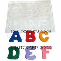 LETTERS AND NUMBERS CANDY MOLDS