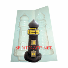 """LIGHTHOUSE CANDLE<br> MAKING MOLD<br> (7.5"""" HT, 10 oz)"""